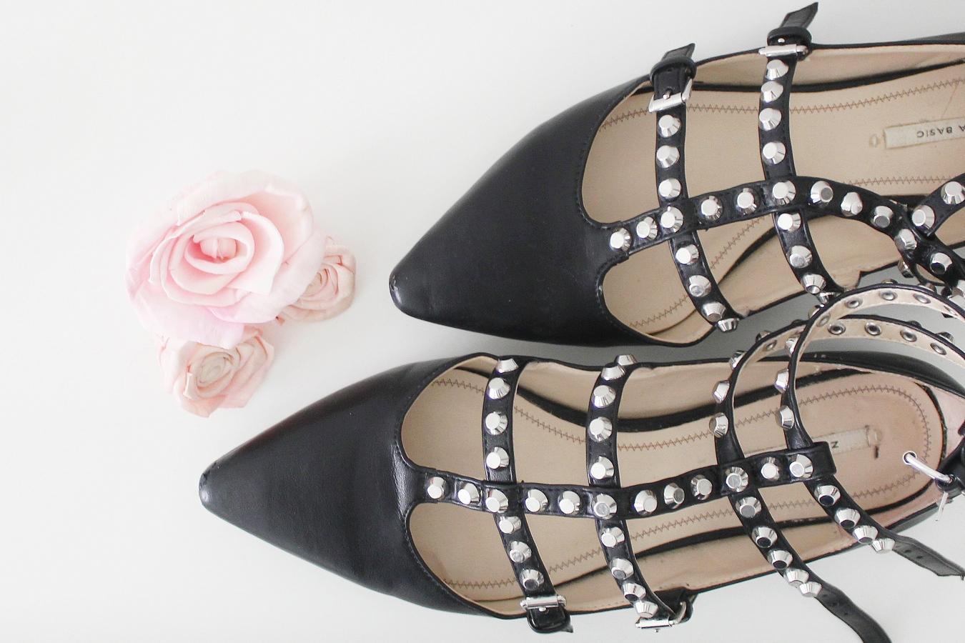 mignonneries chaussures zara rockstud valentino - Du style madame - blog mode paris