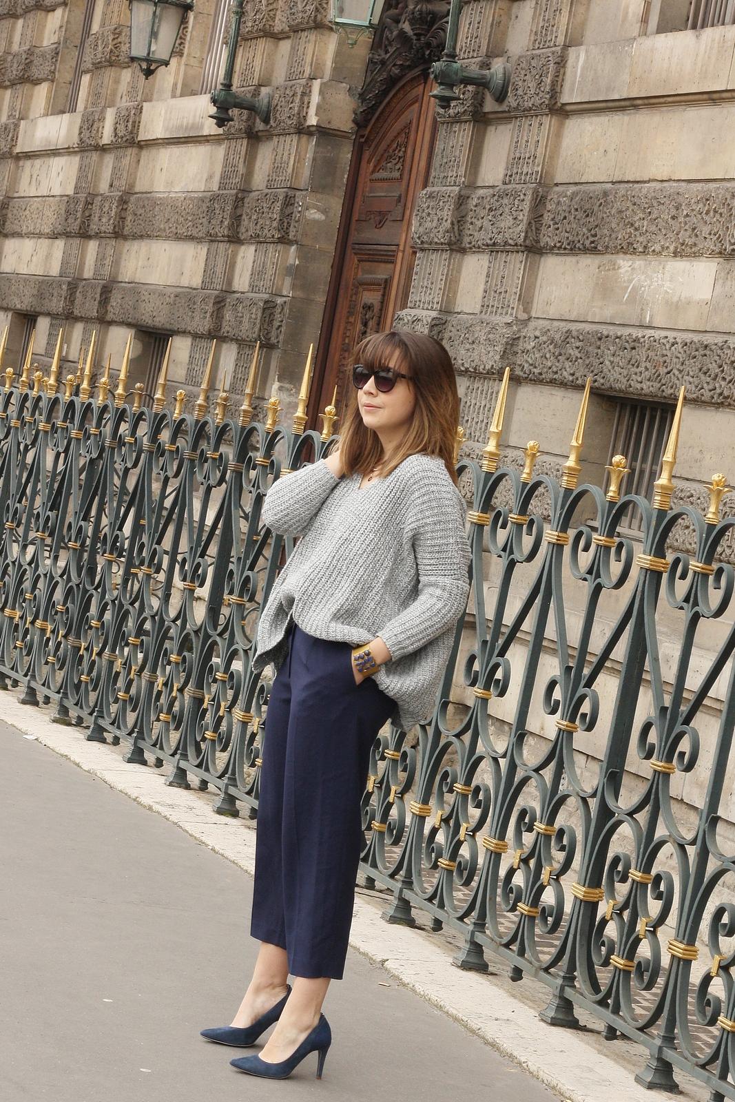 Blog mode femme Paris - Du style, Madame - Streetstyle - jupe culotte navy