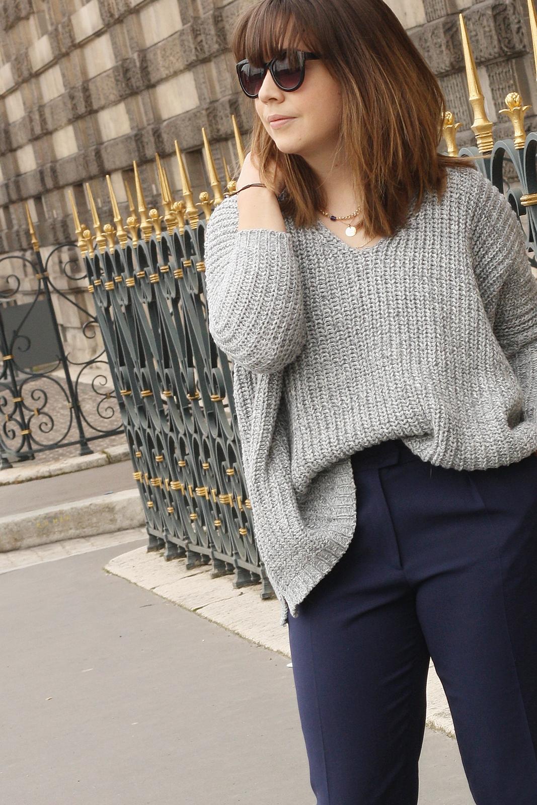 Blog mode femme Paris - Du style, Madame - Streetstyle - jupe culotte - navy