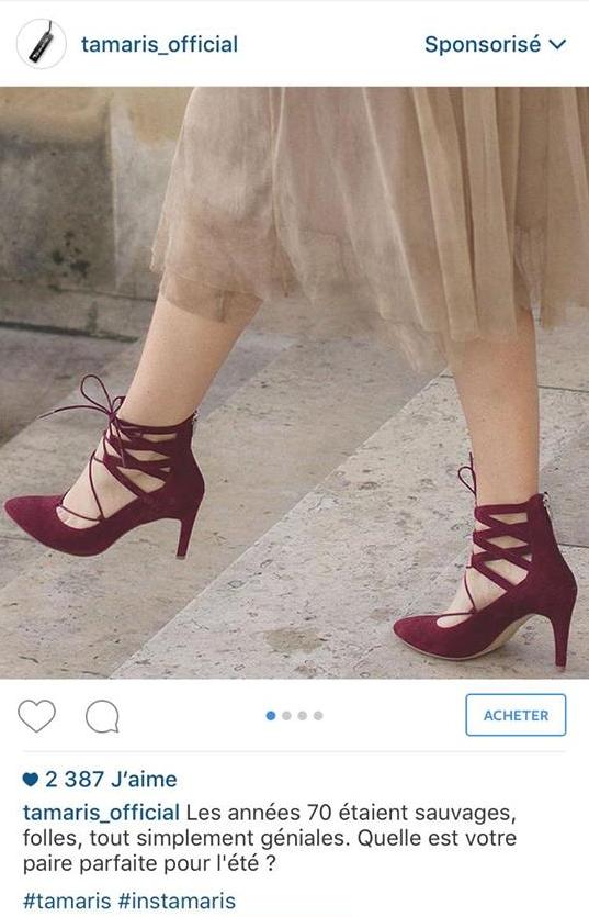 tamaris_campagne sponsorisée instagram