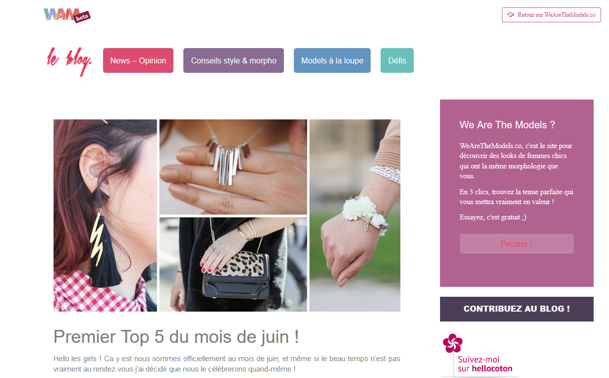we are the models_top 5 du mois de juin
