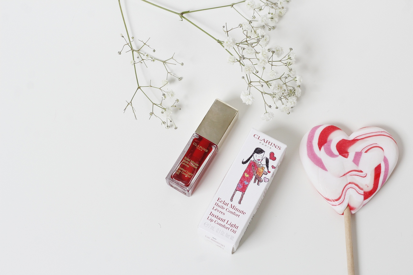 Huile Confort Lèvres Red Berry - clarins
