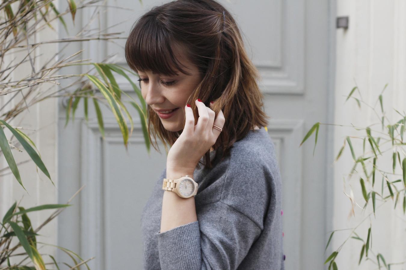 Blog mode femme Paris - Du style, Madame - streetstyle - estheme cachemire - rue crémieux - jord watch