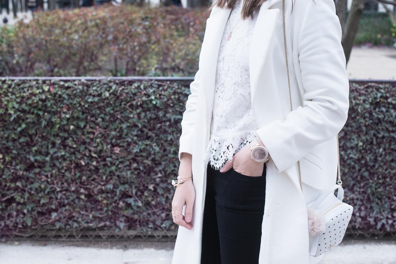 Blog mode femme Paris - Du style, Madame - streetstyle - top dentelle blanc
