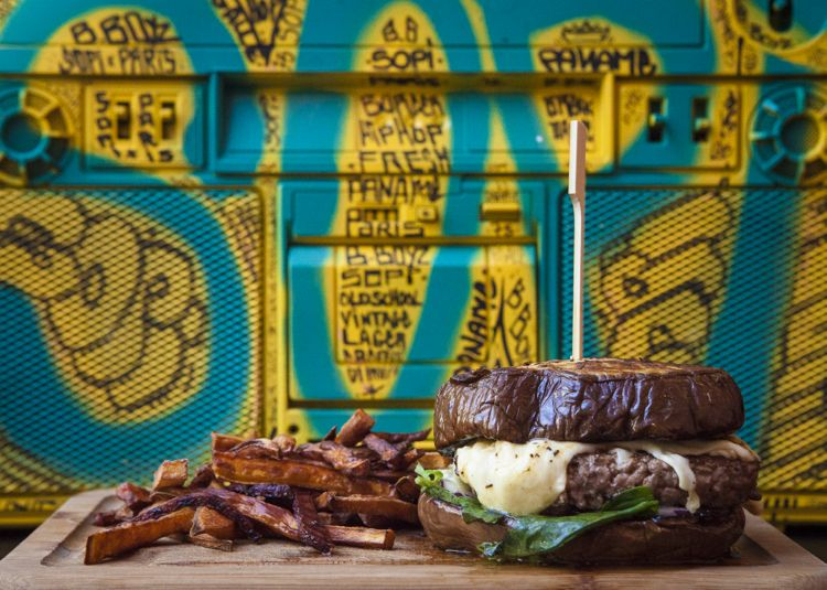 burger sans pain - aubergine - burger vegan - burger sans gluten - bboyz