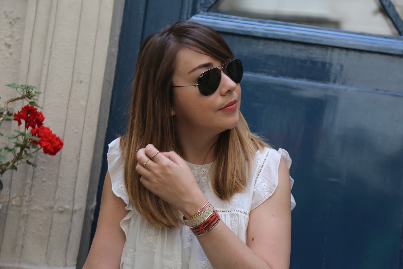 du style madame - blog mode femme - paris - streetstyle - look - kaki - dentelle - cimarron