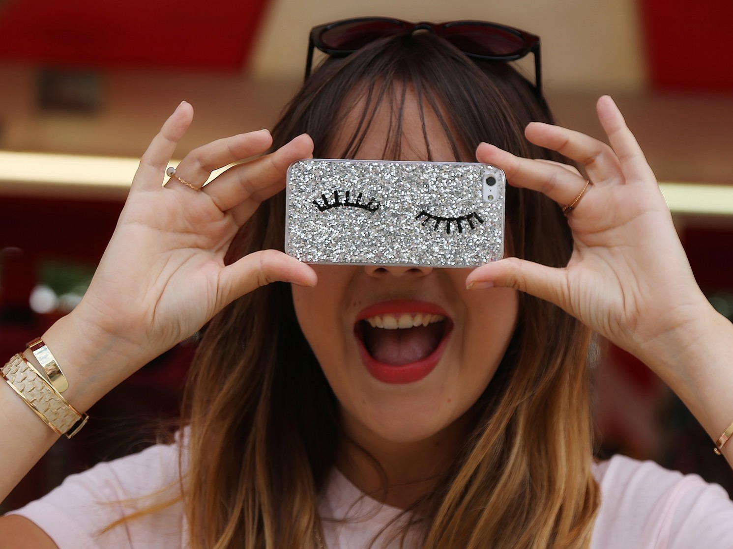 coque imitation chiara ferragni - pull and bear