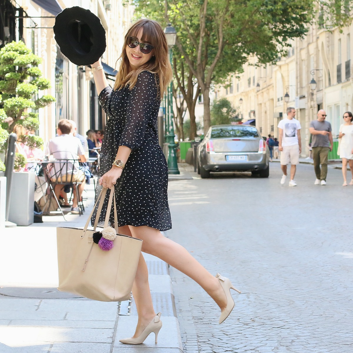 Blog mode femme Paris - Du style, Madame - Streetstyle - robe à pois - balsamik