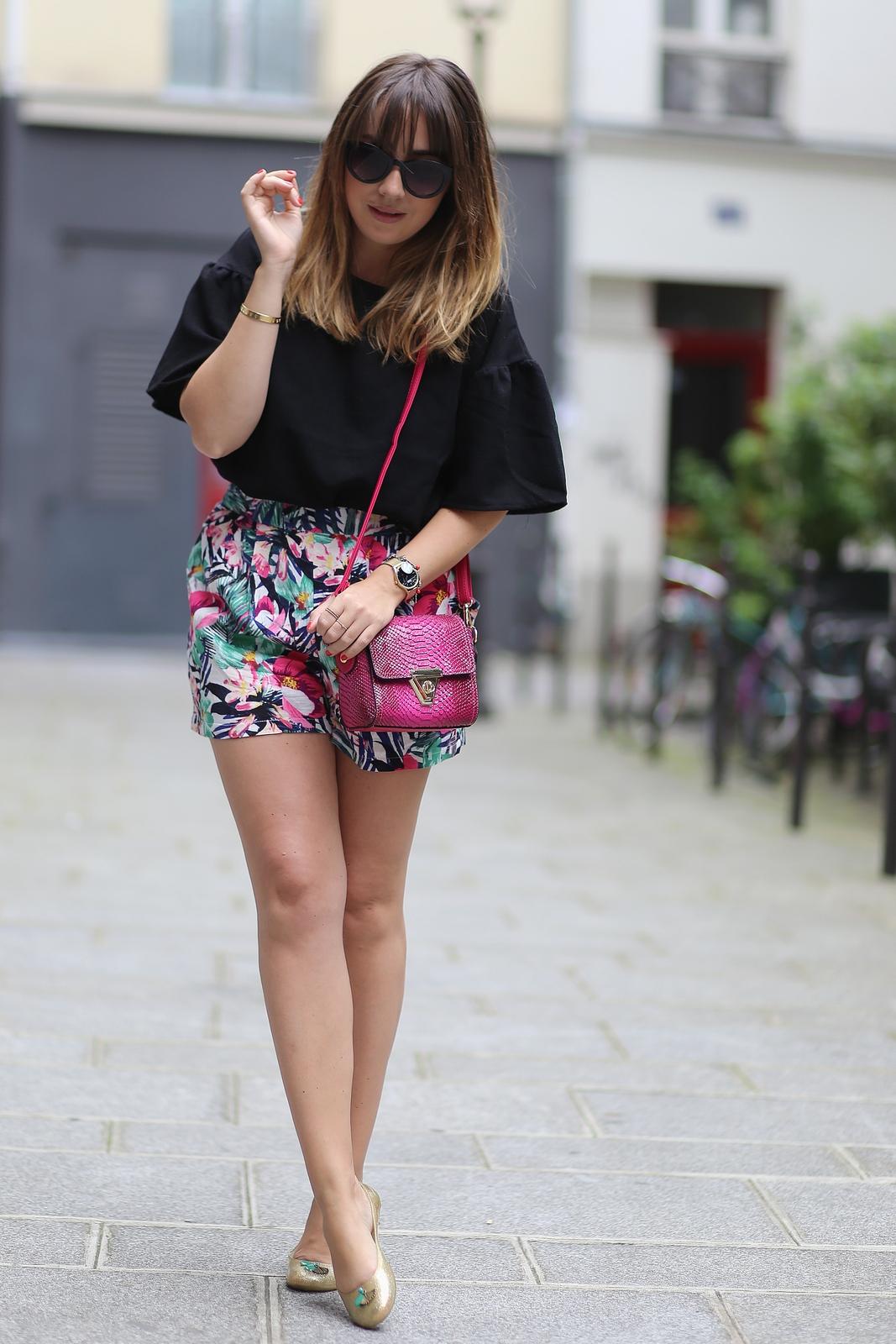 du style madame - blog mode paris femme - la modeuse - chaussures méduse - petits prix - short tropical
