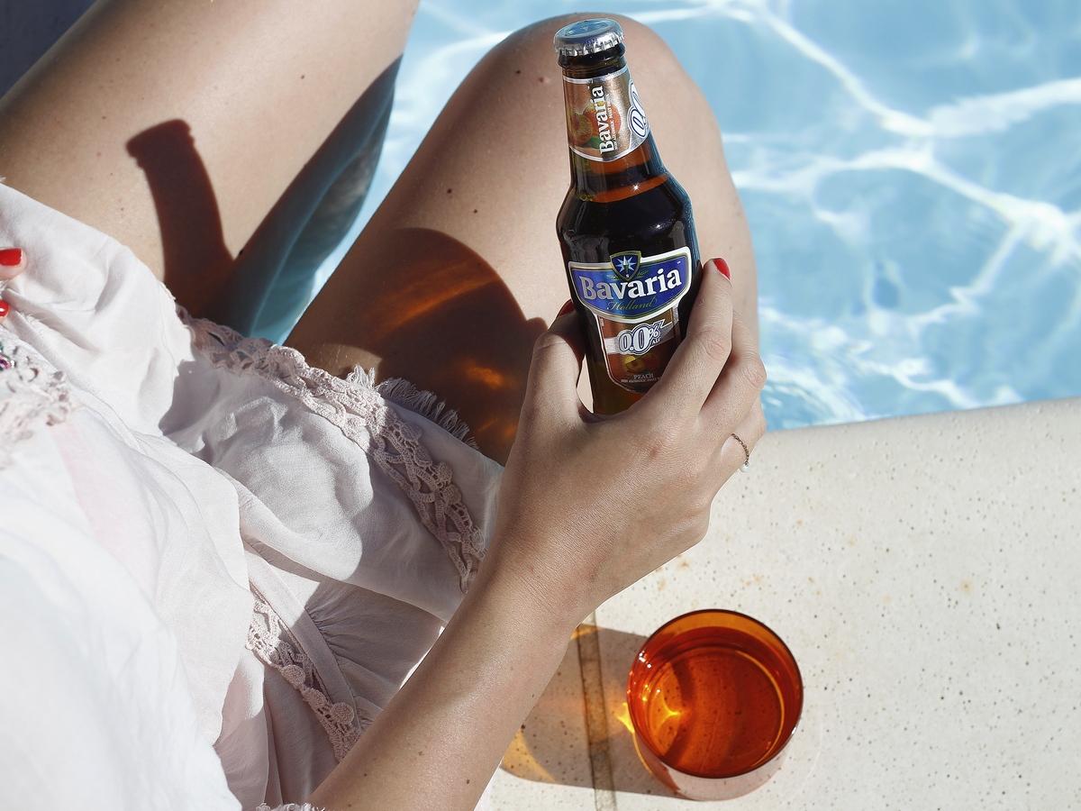 Bière sans alcool à la pêche Bavaria