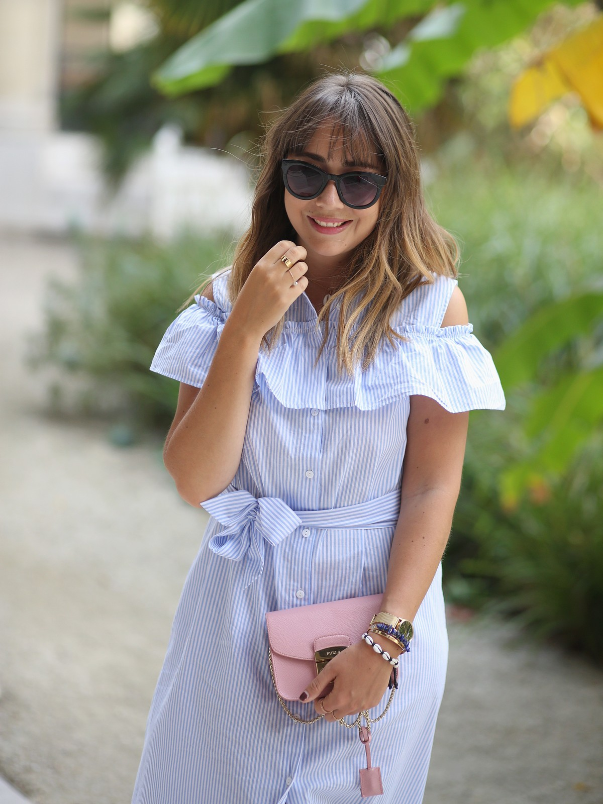 blue stripes - streetstyle - look - petit palais paris - blog mode - du style madame