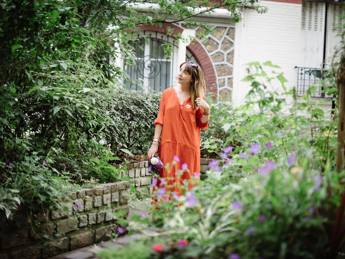 du style madame - blog mode paris - été indien - robe longue zara orange