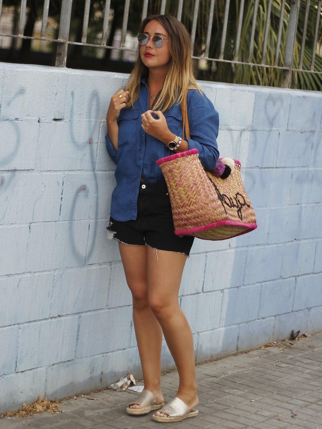 du style madame - panier osier - summer look - valencia