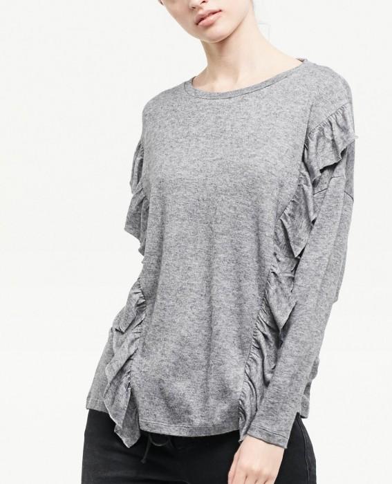 stradivarius tshirt gris