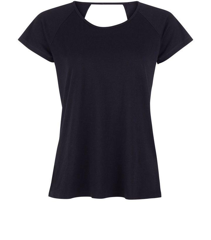 t-shirt-de-sport-en-tulle-noir-avec-barre-dans-le-dos-pas cher