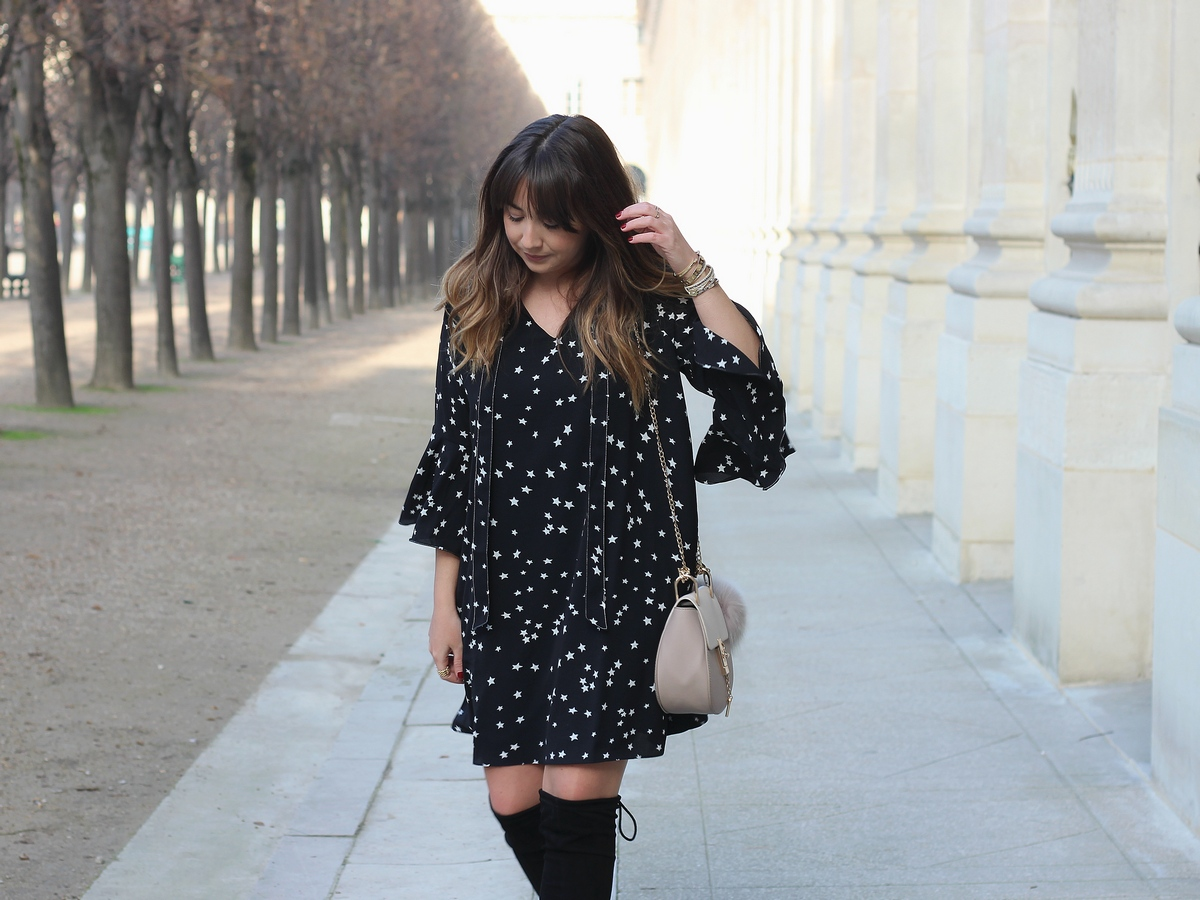 ootd - outfit - look - sister jane - stars dress - style - du style madame - drew - chloé bag