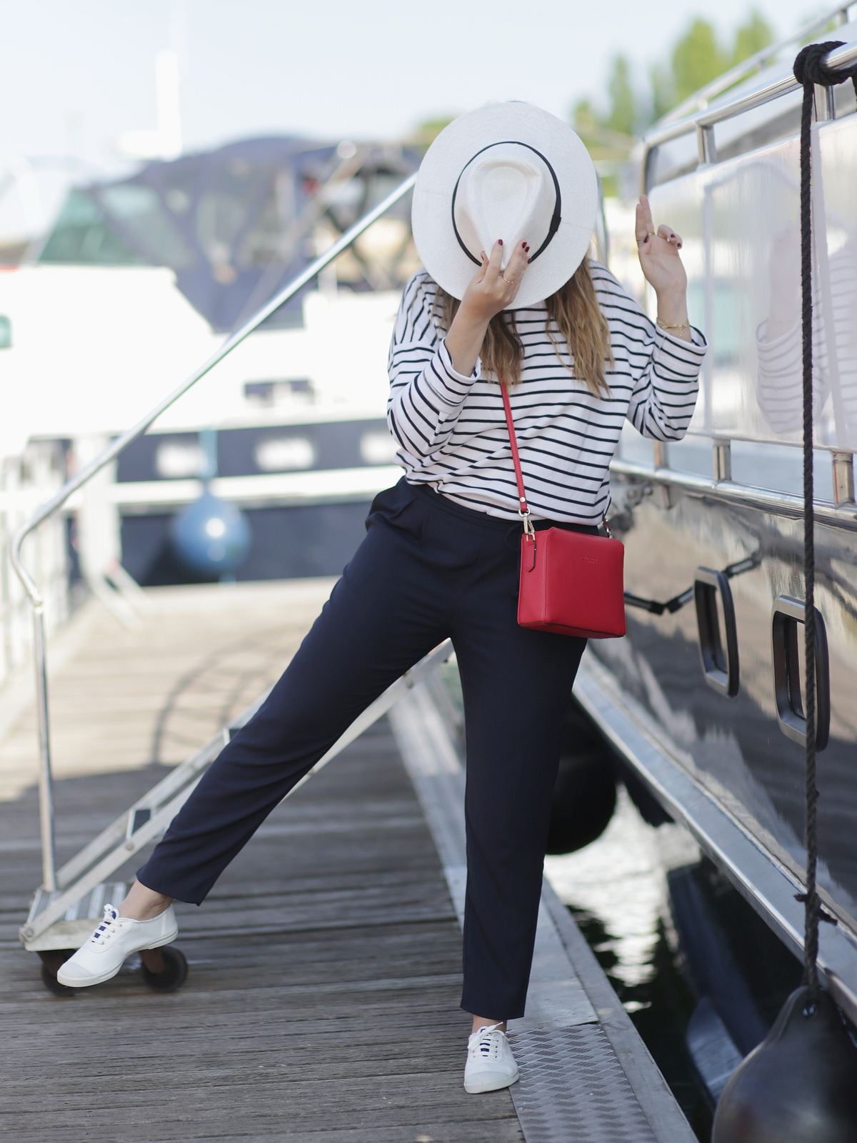 navy - ootd - outfit - mariniere - look - bensimon - du style madame
