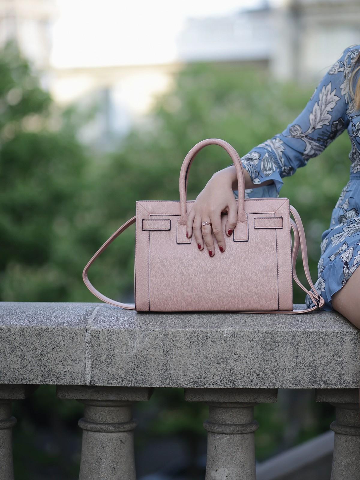 pink bag - justfab - bague pompom alex bok - du style madame