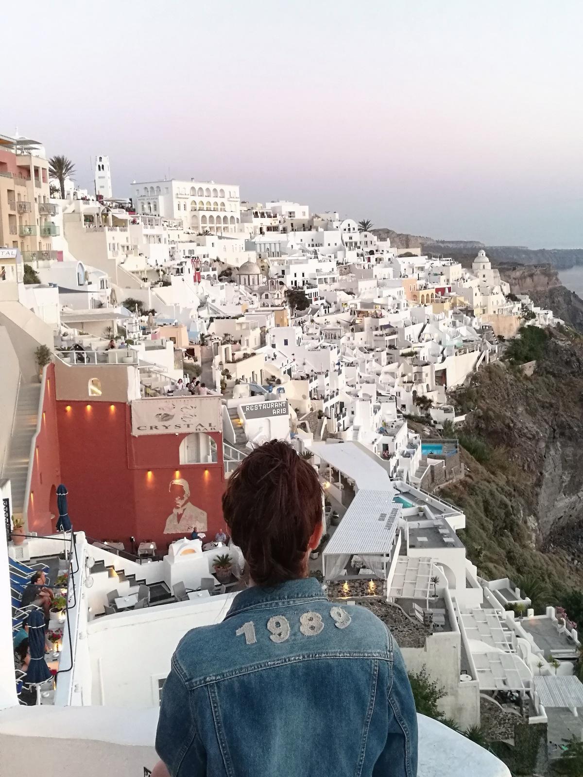 santorin - fira - thira - landscape - greece - grece