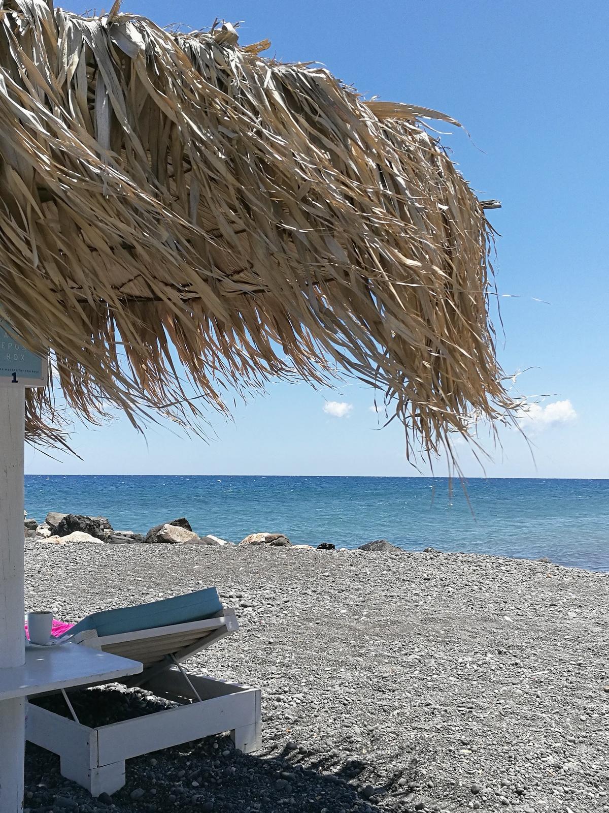 kamari beach - santorin - santorini