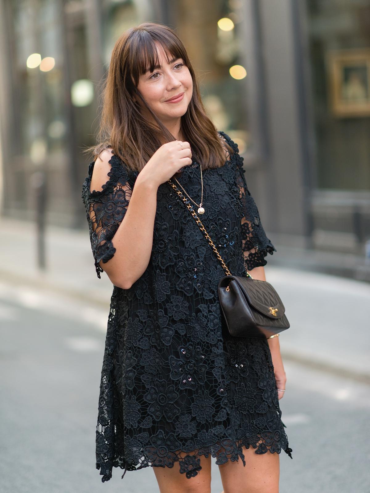 la petite robe noire - crochet - black dress - summer - parisienne