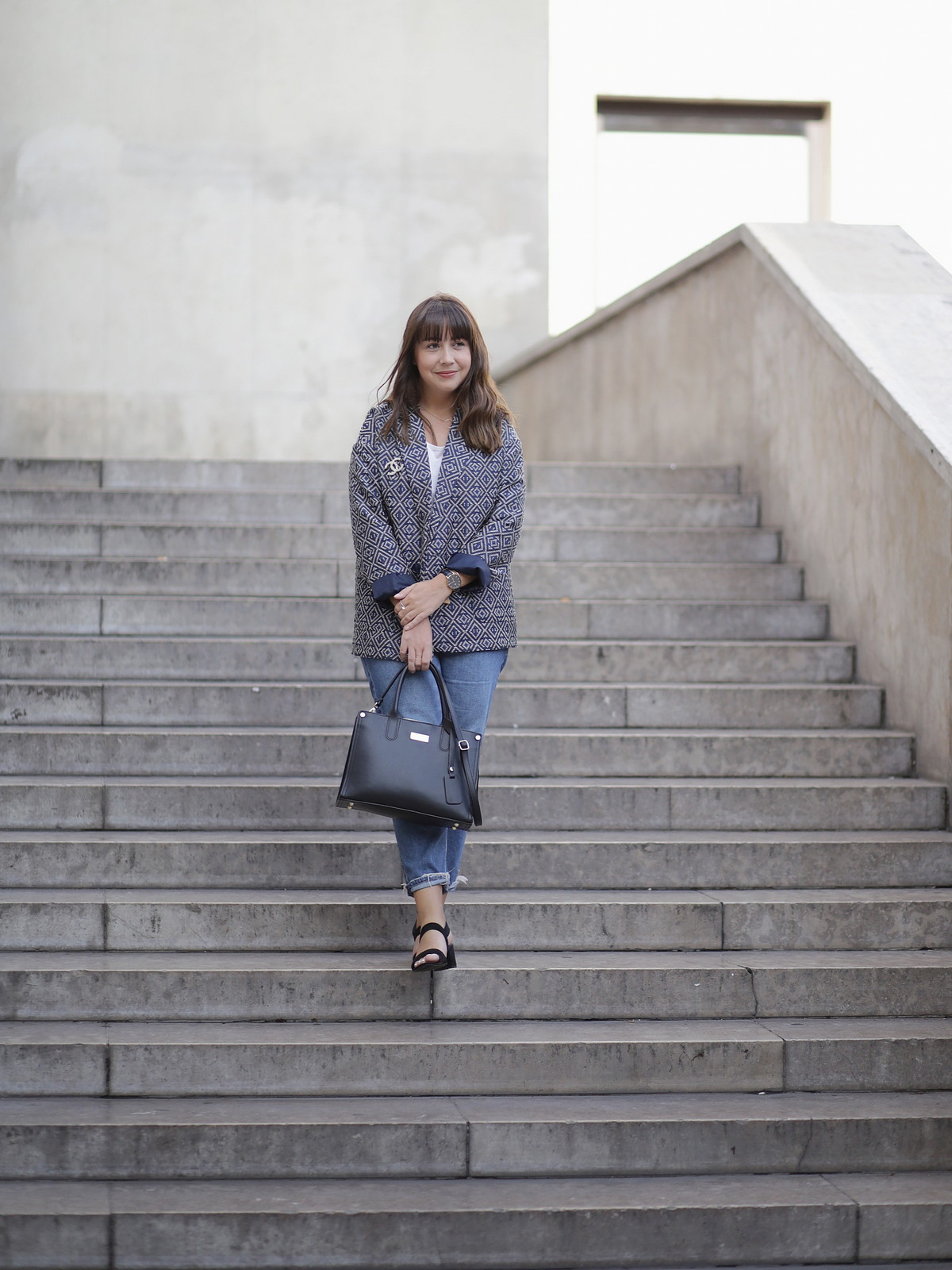 look rentrée - casual chic - blazer on parle de vous - back to school - mom jean - chanel - du style madame