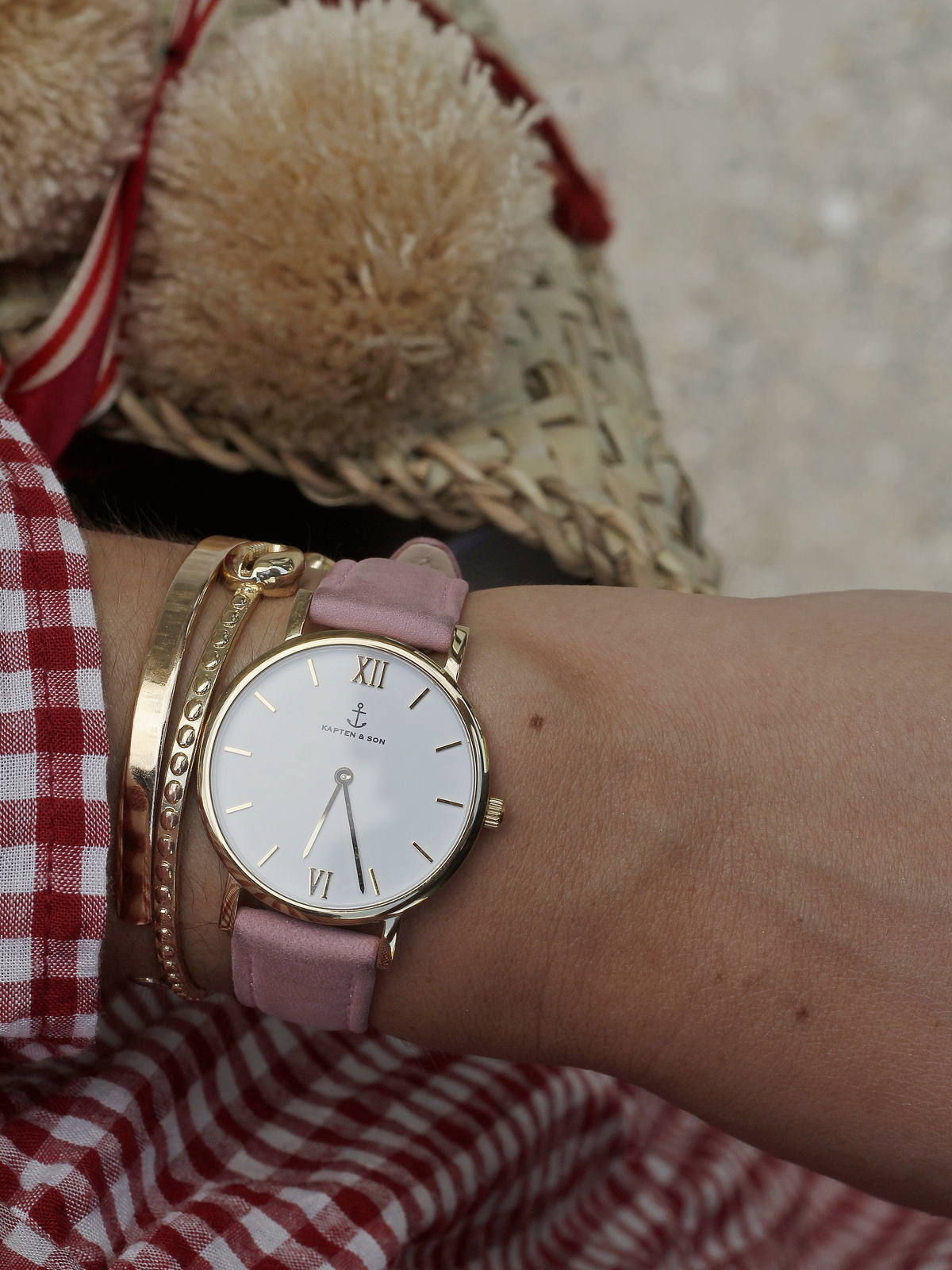 montre kapten and son - watch - pink