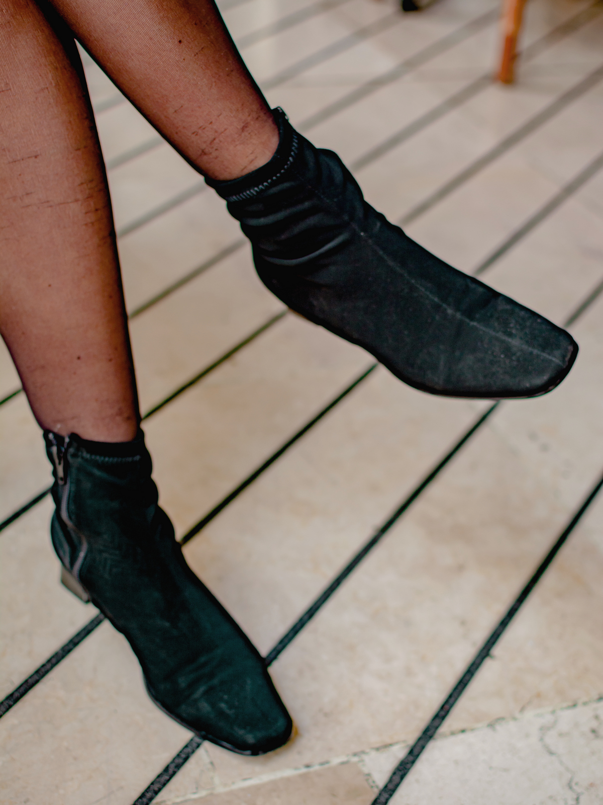 bottines chaussettes - du style madame - blog mode