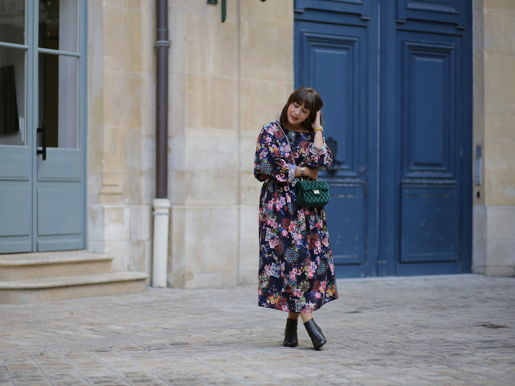 Maxi dress and 60' boots - du style madame - blog mode paris - robe longue