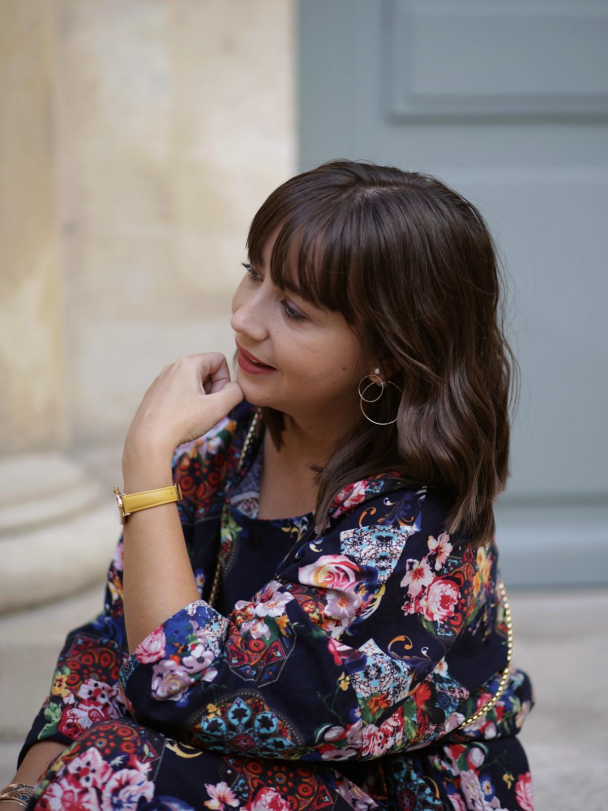du style madame - blog mode paris - boucles d'oreilles asymétriques perle - happiness boutique