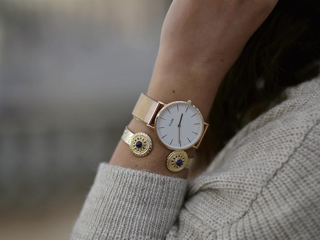 montre cluse dorée gold