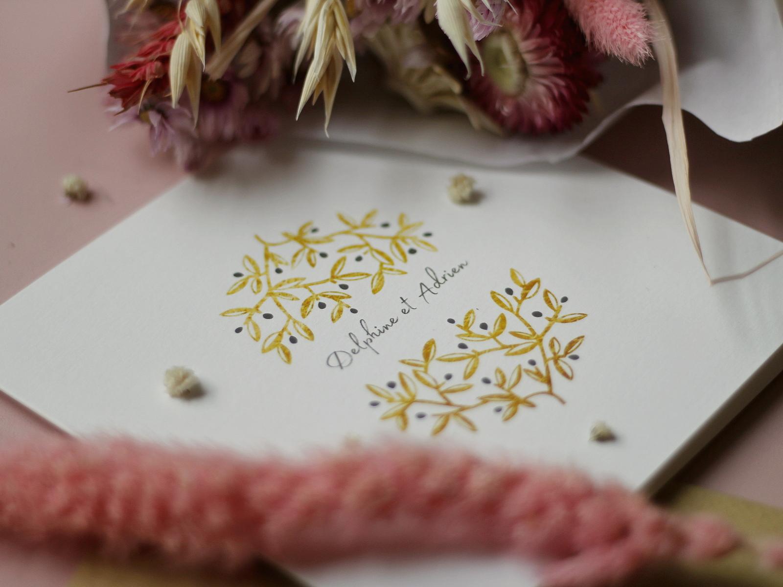 faire-part mariage champetre pas cher - popcarte - du style madame - chic - original - tendance