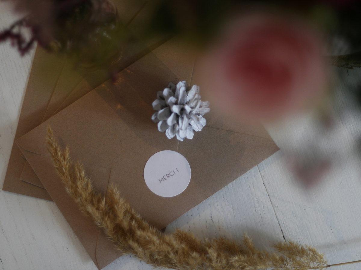 carte remerciement mariage - du style madame - rosemood - papeterie