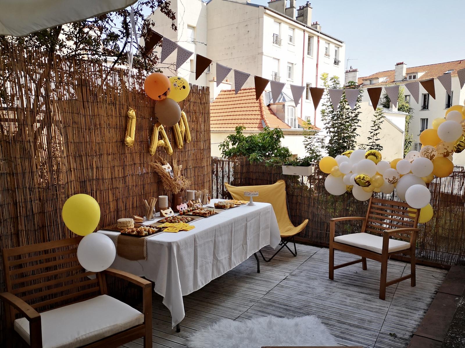 1 an; anniversaire; décoration anniversaire; anniversaire jungle; savane; bébé;