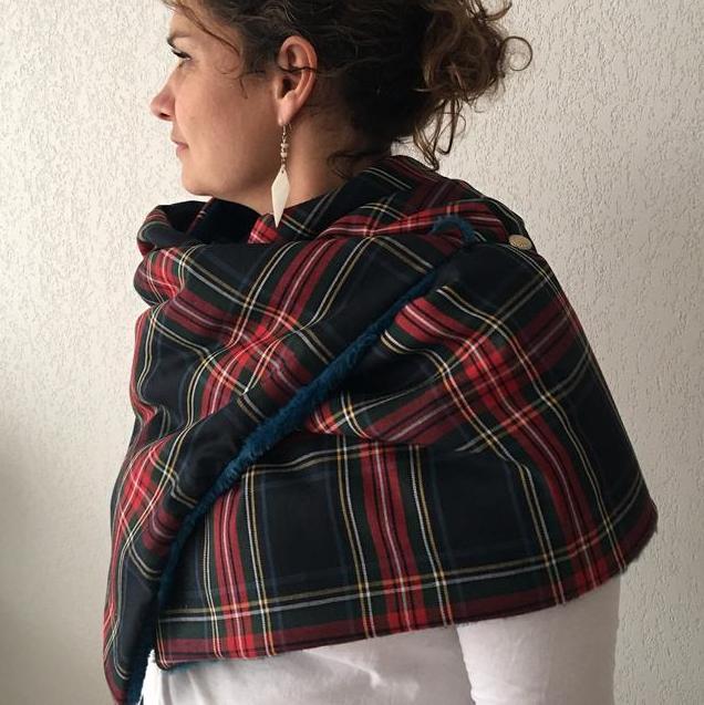 echarpe tartan noel - du style madame